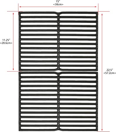 Weber 7522 Cooking Grid Grate Replacement Spirit 200 500 /& Genesis Silver A BBQ