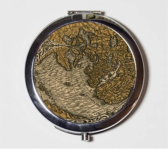 Amazon.com: Antique Map Compact Mirror Vintage Geography Tropic of ...