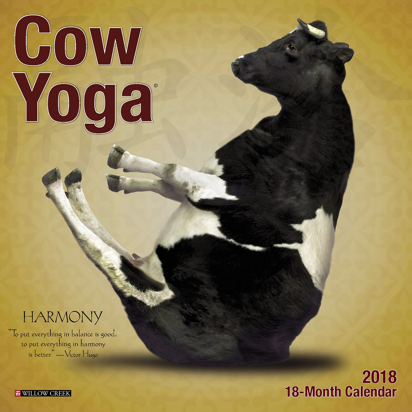 Cow Yoga 2018 Mini Wall Calendar: Amazon.es: Willow Creek ...