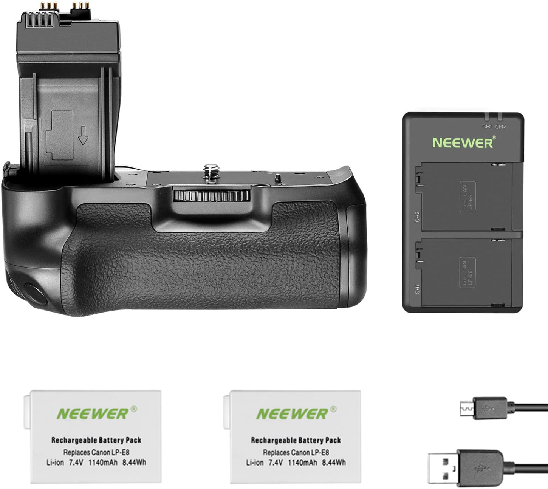 Grip +2 baterías Canon 550D 600D 650D 700D Rebel T2i T3i T4i