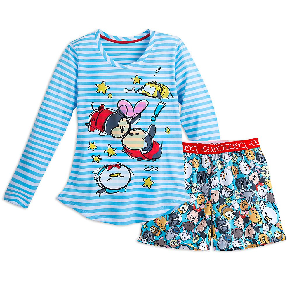 Disney Mickey Mouse and Friends ''Tsum Tsum'' Sleep Set for Women Size LADIES XXS Blue