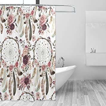 Cpyang Boheme Ethnique Dream Catcher Rose Et Tissu De Polyester