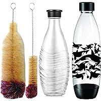 Grunda Set van 2 flessenborstels, 33 cm, krasvrije en moeiteloze reiniging, geschikt voor SodaStream glazen flessen…