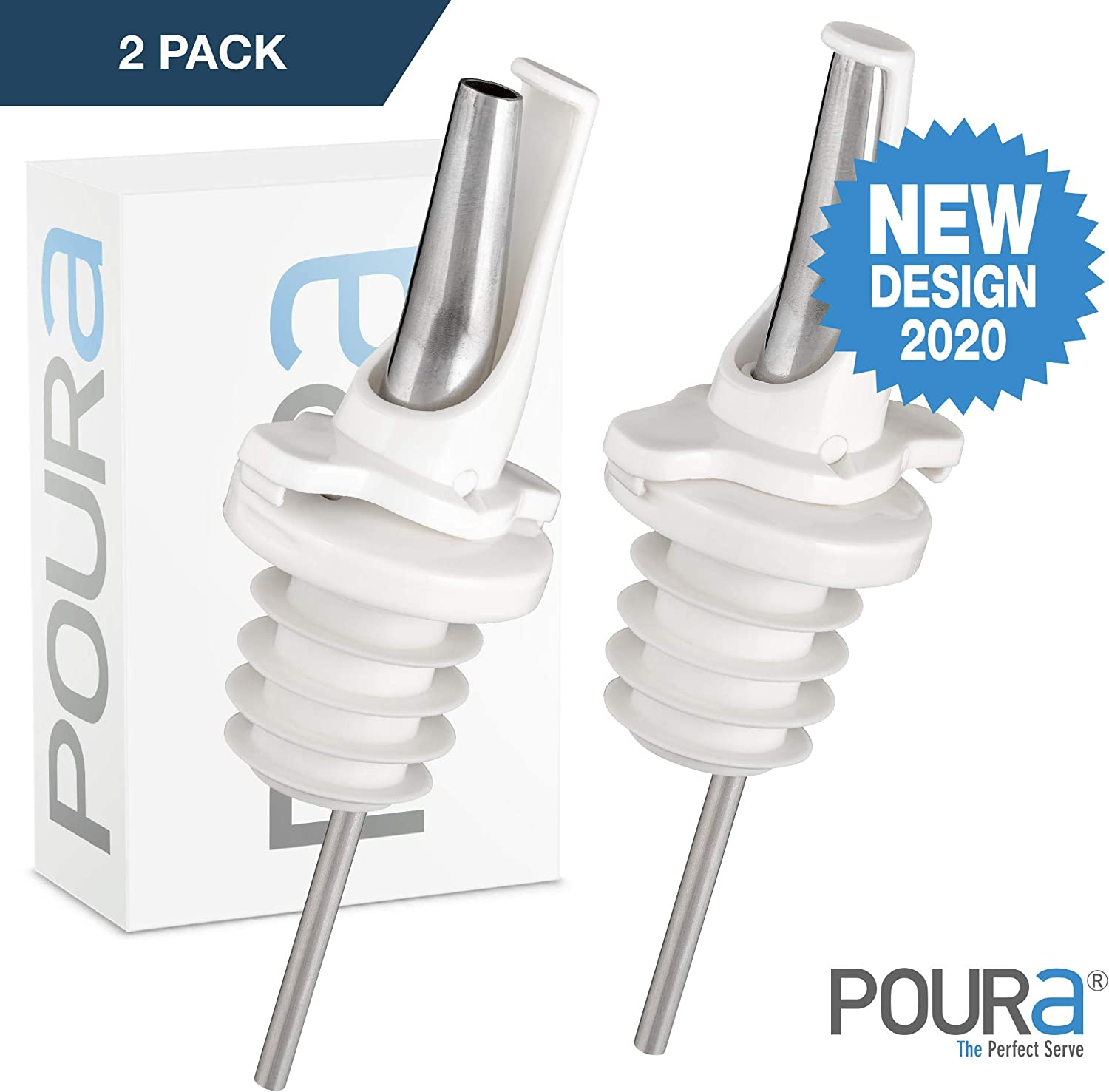 Patented Design Pour Spouts Black Liquor Bottle Pourers Fits Universally to Most Bottles 12 Pack Meet The New Standard of Bottle Pourers Open and Close for Mid Pour Shut Off