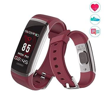 Pulsera Actividad Pantalla de color,Pulsera Inteligente Fitness Tracker con Cardíaco Monitor Reloj Inteligente Impermeable