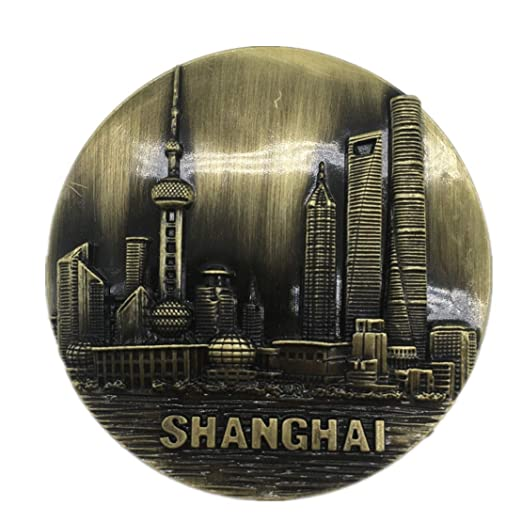 Weekinglo Souvenir Shanghai China Imán de Nevera 3D de Metal ...