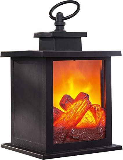 khevga - Chimenea de mesa (LED, efecto llama, fuego artificial ...
