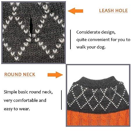 Amazoncom Azuza Dog Sweater Dog Pullover Knitwear Fall Winter