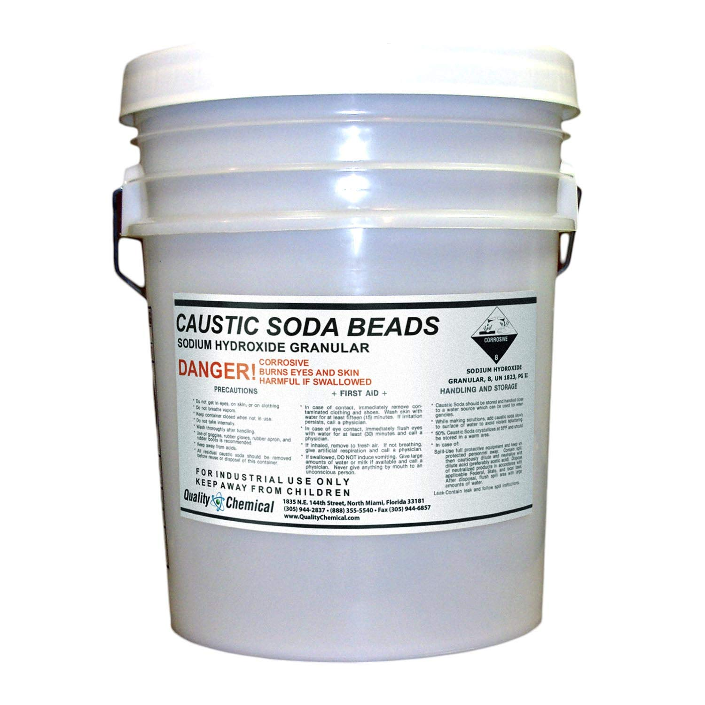 Sodium Hydroxide (Caustic Soda Beads) - 40 lb Pail