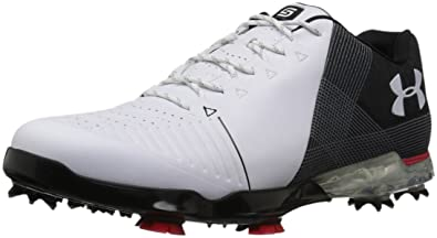 14a3af27e0d7e1 Under Armour Men s Spieth 2 E Golf Shoe White 1 (100) Black 8.5