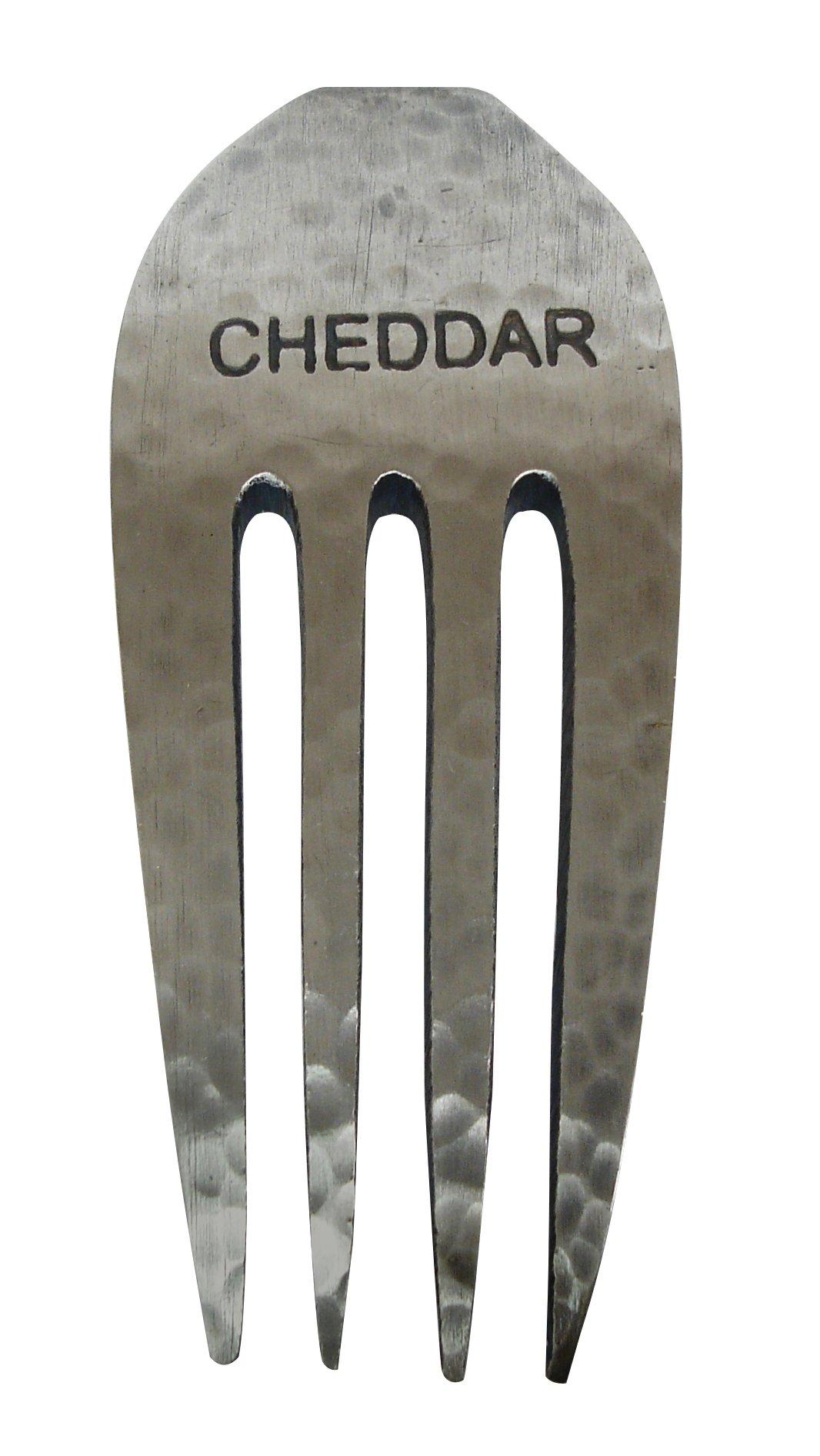 Epicureanist Rustic Cheese Fork Marker, Cheddar