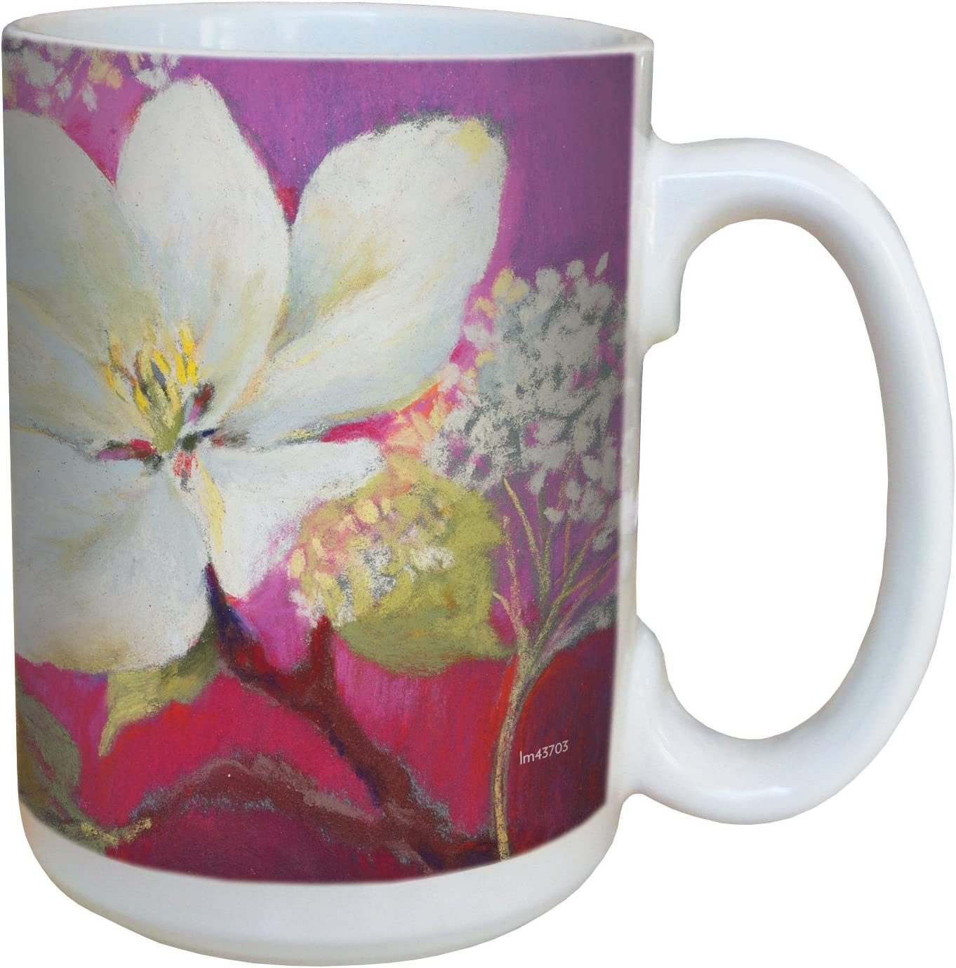 Tree-Free Greetings lm43703 Apple Blossom by Nel Whatmore Ceramic Mug, 15-Ounce