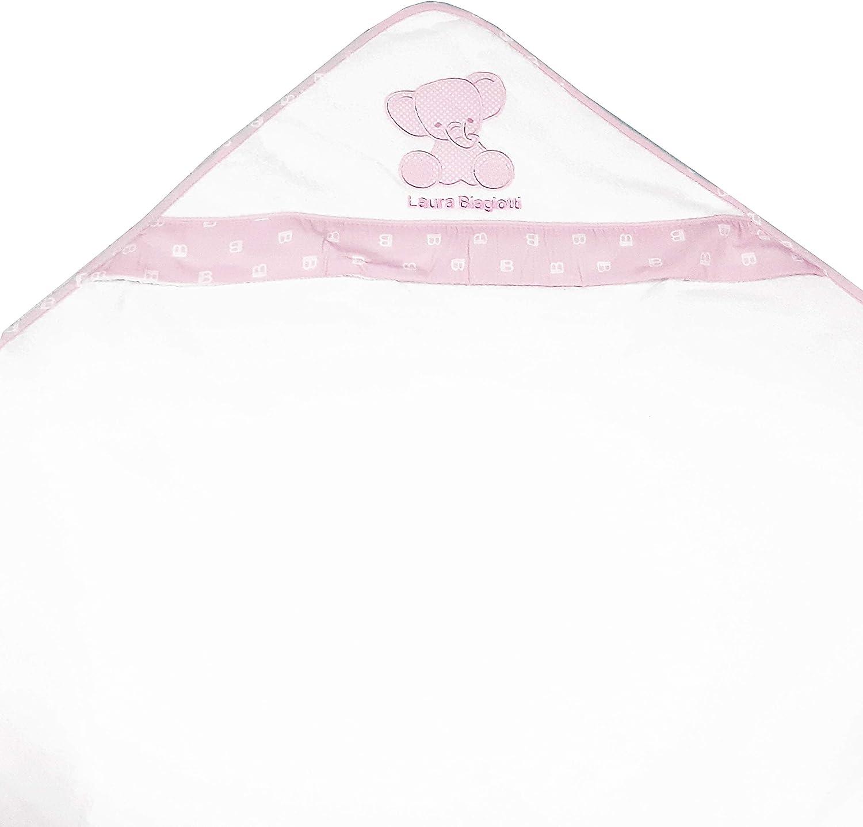 con bolsillo en forma de coraz/ón de tela Aida para bordar Albornoz triangular para reci/én nacidos y primera infancia Red color blanco rosa