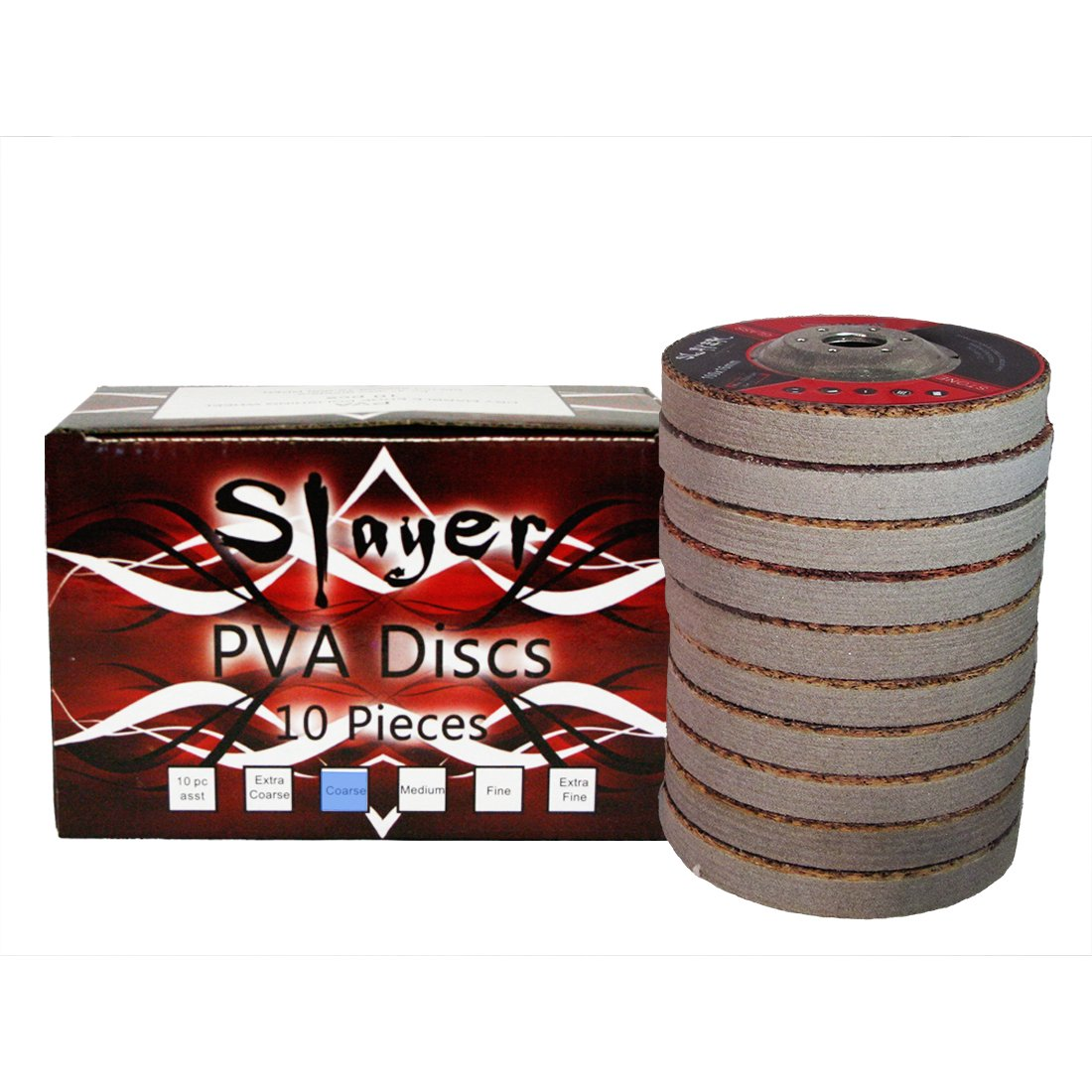 4'' Slayer PVA Polishing Discs Coarse Grit - 10 Pieces