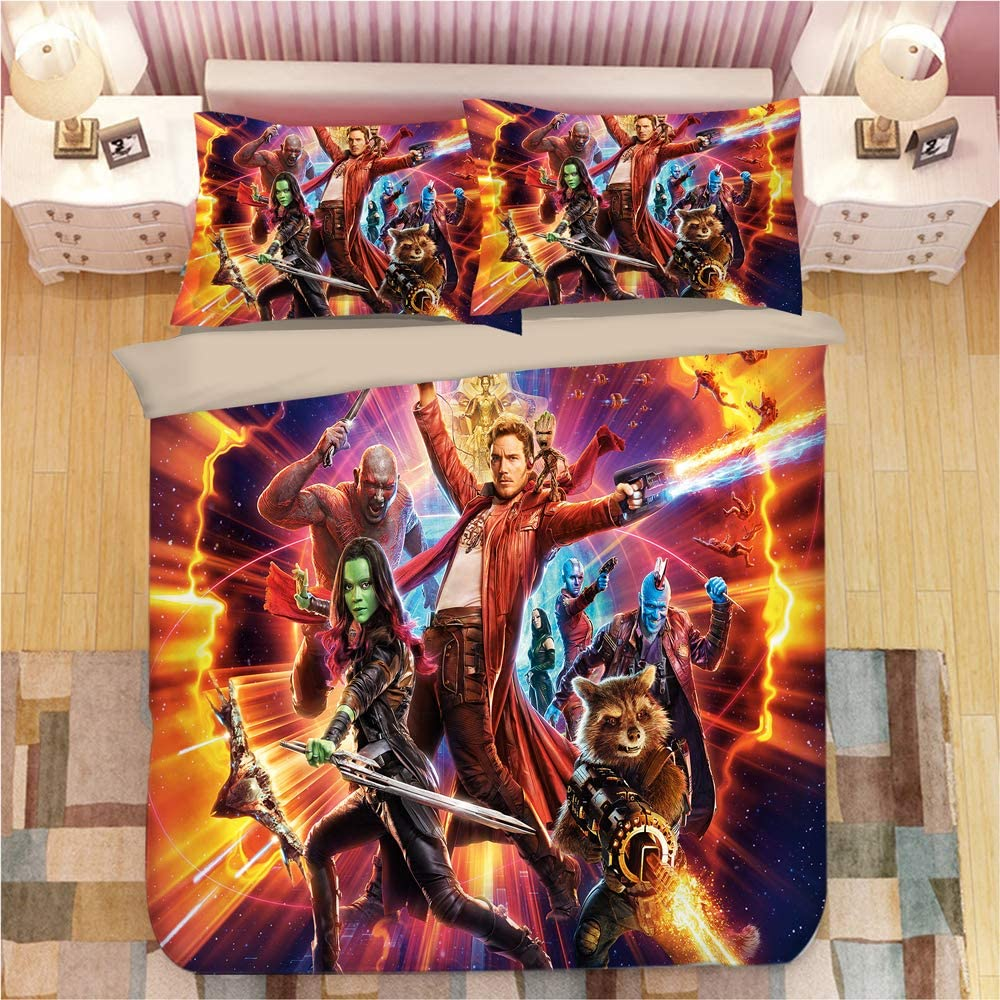 Marvel Duvet Cover Guardians of The Galaxy 1 Duvet Cover 2 Pillowcase Twin Full Queen King Size