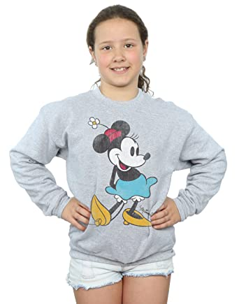 fb364a2e90 Amazon.com: Disney Girls Mickey Mouse Classic Minnie Mouse Sweatshirt:  Clothing