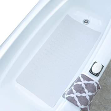 New Anti Non Slip Shower Bath Mat Bathroom Safety Rubber Suction Cups US