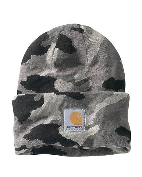 17c1ef7fa9d Carhartt Camo Watch Hat – Rugged Grey Camo Rib Knit Hat Label Front  CH102322071GCAMO-One