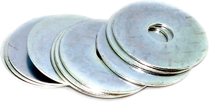M12 x 50mm x 5mm HEAVY DUTY THICK WASHERS BZP COLOUR COATED