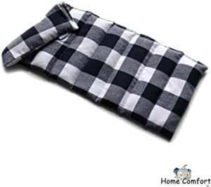 Microwavable Heating Pad (Black Plaid)