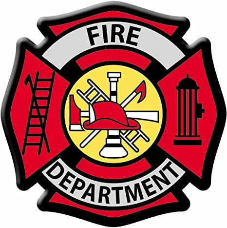 FIRE FIGHTER DEPT FIREMAN  Embroidered Sew Iron On Cloth Patch Badge APPLIQUE