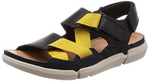 c4684eef8 Clarks Men s Trisand Sun Blue Leather Sandals-8 UK India (42 EU ...