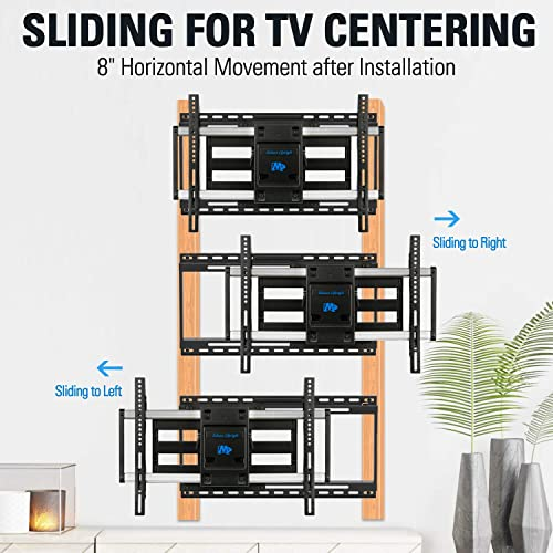 Mounting Dream TV Mount with Sliding Design for 42-70 Inch TVs, Easy for TV Centering on Wall, Full Motion TV Wall Mount Fits Most Smart OLED TVs – Easy to Install on 16 24 Studs, Extend to 19