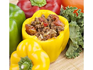 Stuffed Pepper Soup Starter - Rice & Red Green Peppers - One Pound