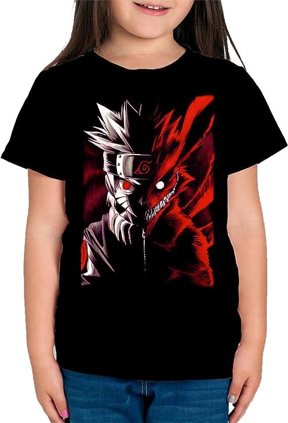 Camiseta de NI/ÑOS Naruto Shippuden Uchiha Manga Anime/…