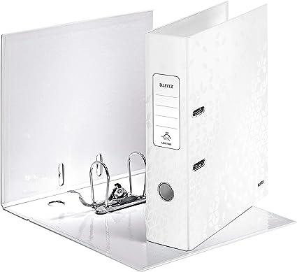 Leitz Archivador de Palanca, Blanco Perla, Lomo de 80 mm, Gama WOW, 10050001 (El diseño puede variar): Amazon.es: Oficina y papelería