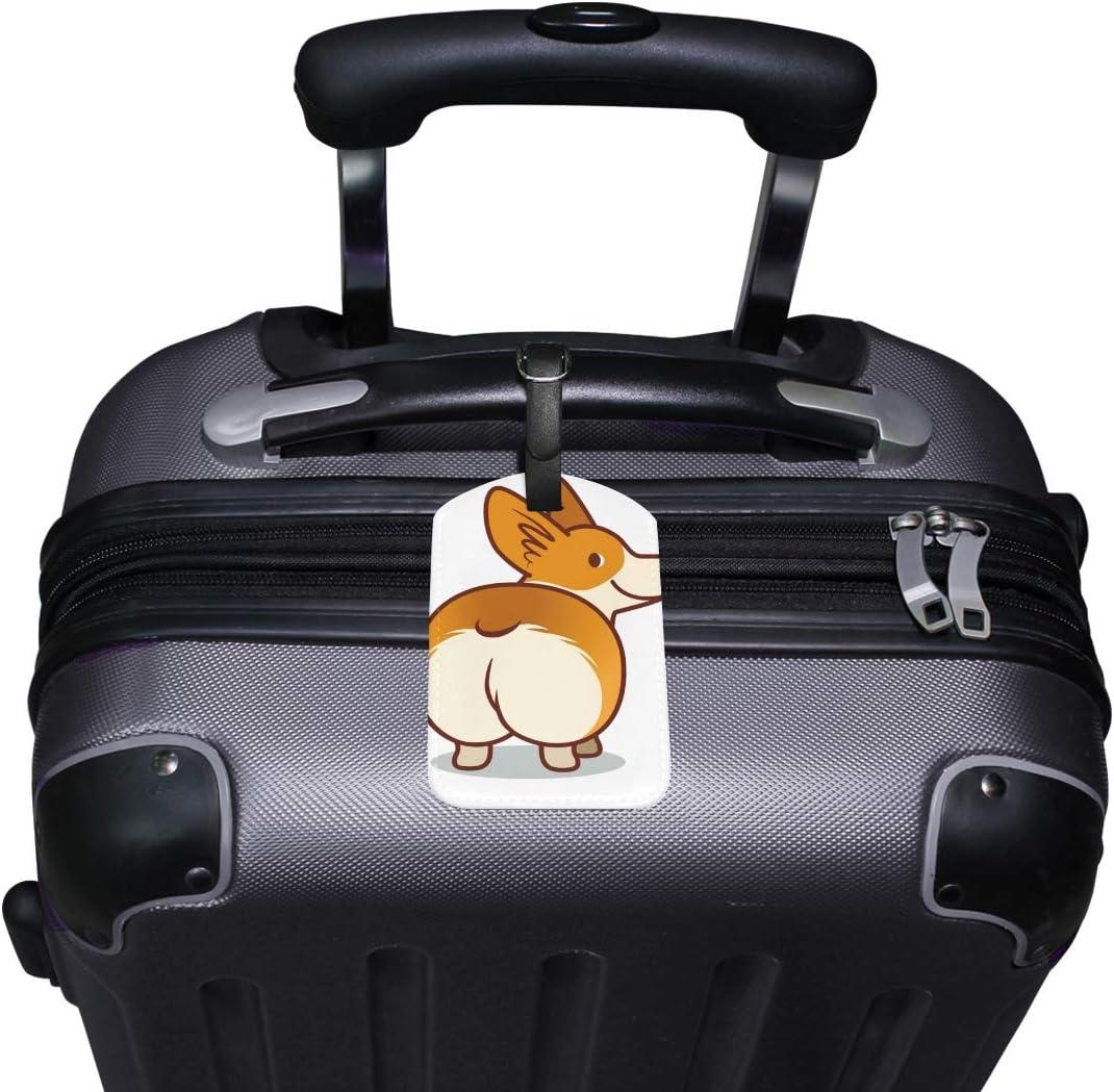 MyDaily /Étiquette de Bagage en Cuir PU Motif Chien Gallois Corgi