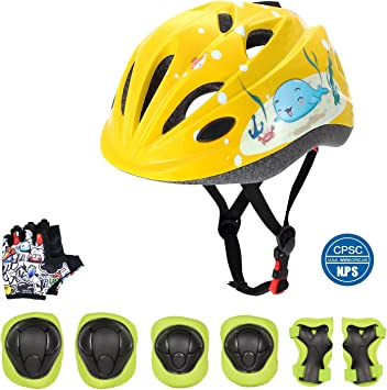 Odoland Casco de Bicicleta para Niños con un Conjunto de ...