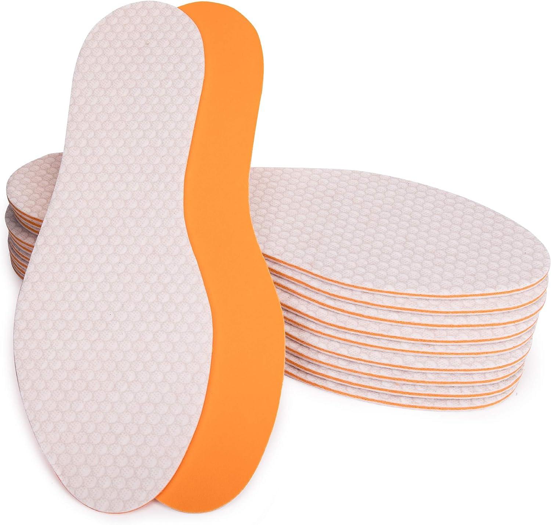 SULPO Lot de 10 paires de semelles avec un parfum frais pour prot/éger les pieds de la sueur pour homme et femme anti-odeurs Semelles Taille 36-47