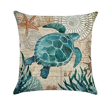 Amesii, funda de cojín con diseño clásico de tortuga ...