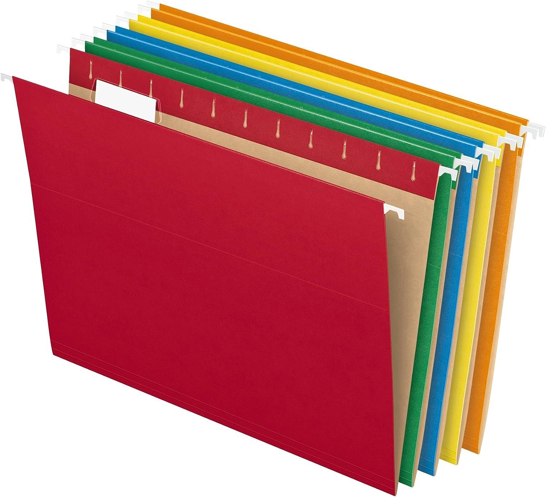 Letter Size Standard Green 1//5 Cut... Pendaflex Recycled Hanging file Folders