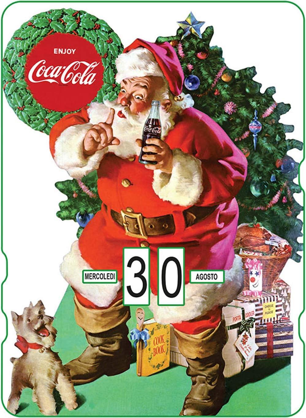 Coca Cola Babbo Natale.Calendario Perpetuo Coca Cola Babbo Natale Con Regali Vicino Del Albero Amazon It Cancelleria E Prodotti Per Ufficio