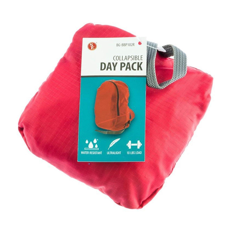 ASRアウトドア防水折りたたみ可能なDay Pack (様々な色) レッド  レッド B01N3Q0F7Z