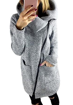 en soldes 65183 9d232 Minetom Manteaux Hiver Femme Grande Taille Veste À Capuche Manteau Longue  Jumper Sweatshirt Chemisiers Outwear Hoodie Sport