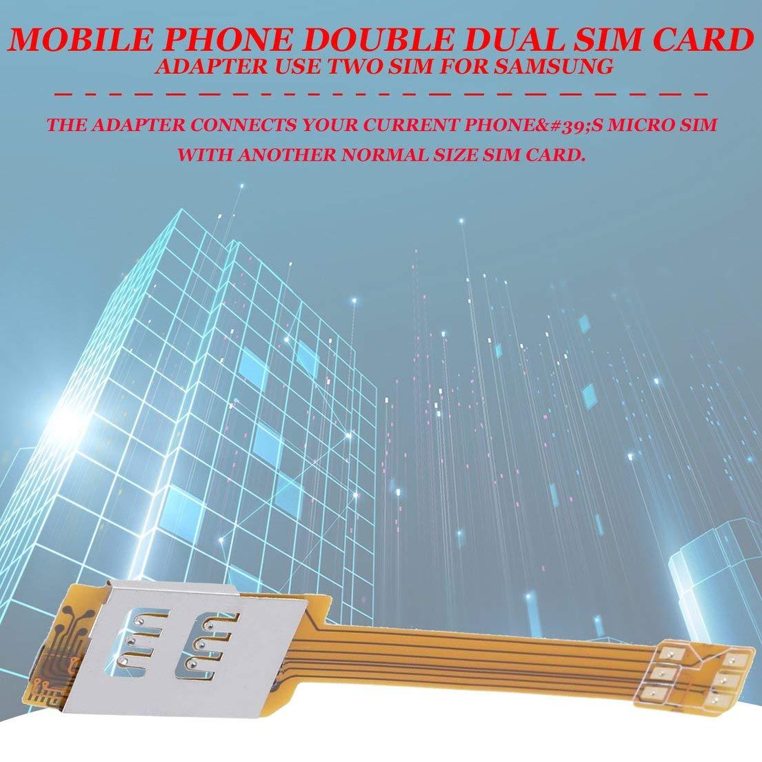 Adaptador de Tarjeta SIM Doble Doble del teléfono móvil ...