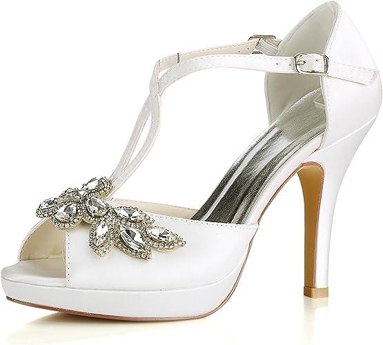Scarpe Sposa Ebay.Emily Bridal Scarpe Da Sposa Scarpe Da Sposa Avorio Peep Toe