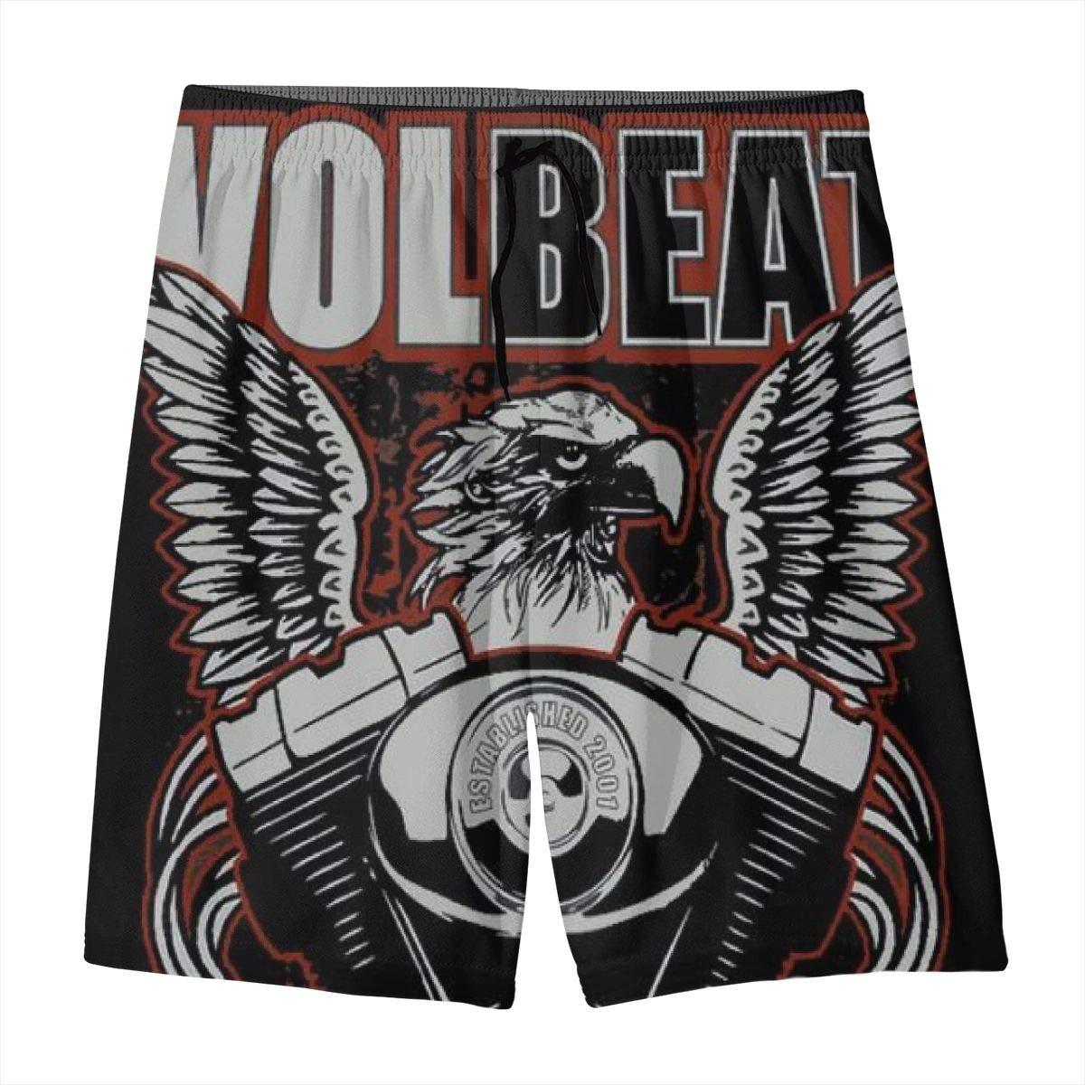KSFKE Volbeat Teens Beach Board Shorts Quick Dry Bathing Suits Swim Trunks Shorts
