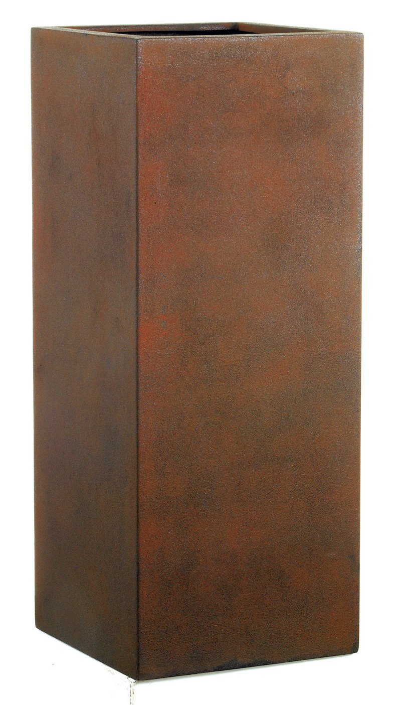 Emsa 800081 Fiberglas Blumenkübel Pflanzkübel Übertöpfe Dundee rust 67cm