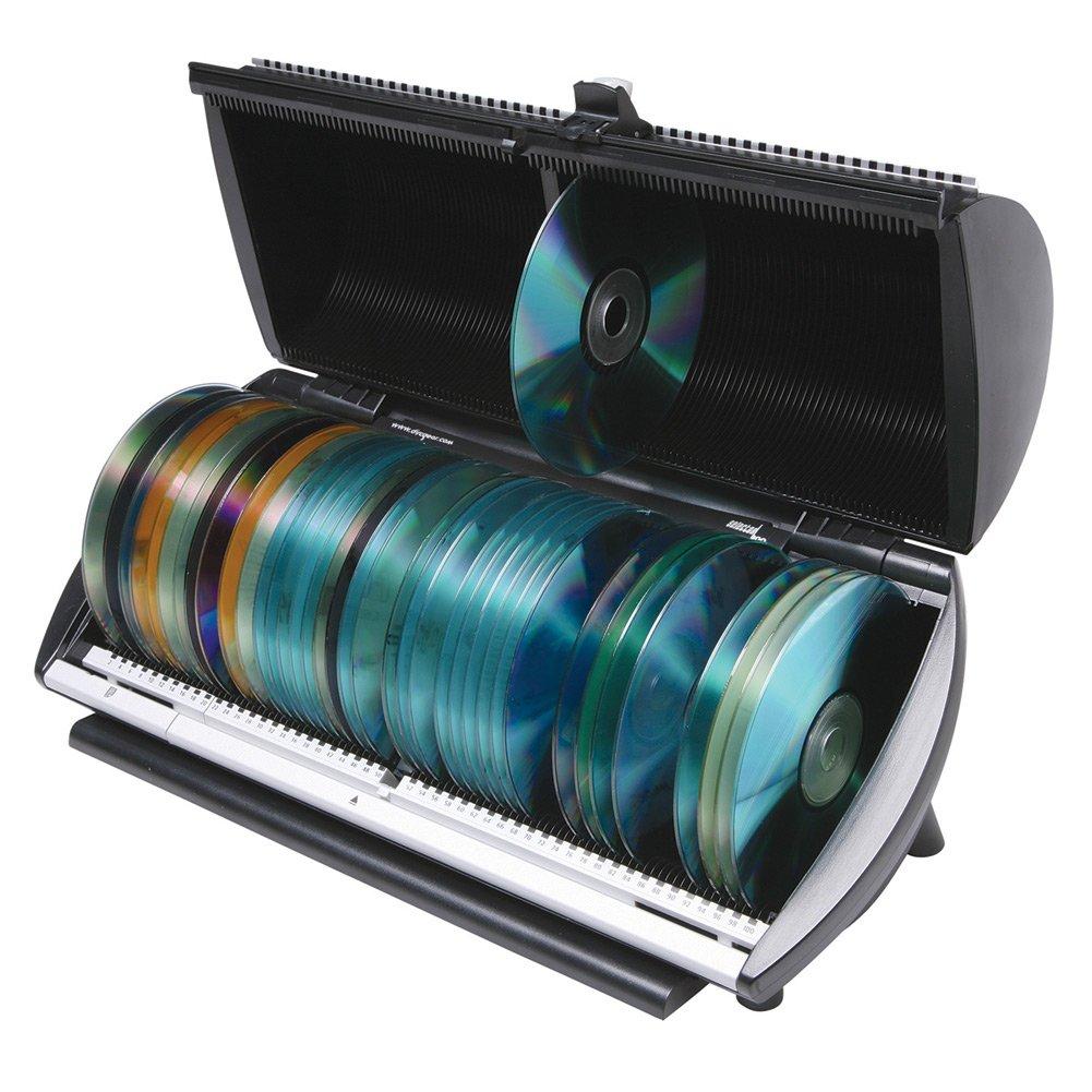 CD, DVD, Blu-Ray 100 Disc Media Storage Organizer Box by Discgear