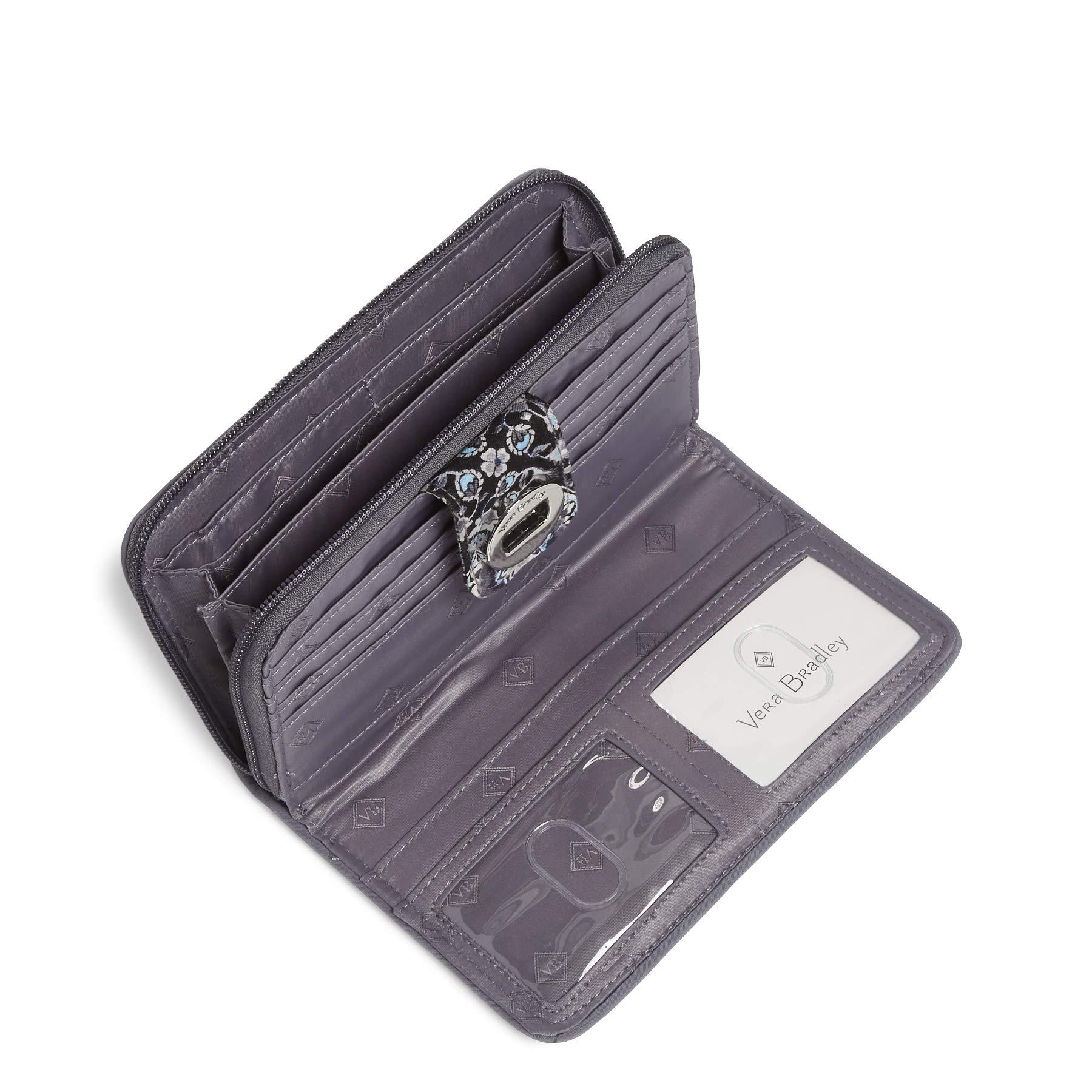 Vera Bradley RFID Turnlock Wallet, Signature Cotton, Charcoal Medallion by Vera Bradley (Image #2)
