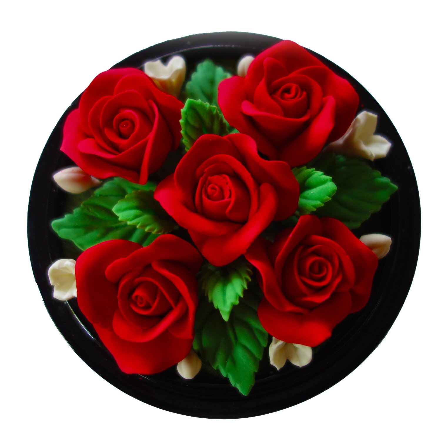 Jittasil Thai Hand-Carved Soap Flower Bouquet, 5 Inch Scented Soap Carving Gift-Set, Roses In Decorative Wood Case by Jittasil Hand-Carved Soap (Image #2)