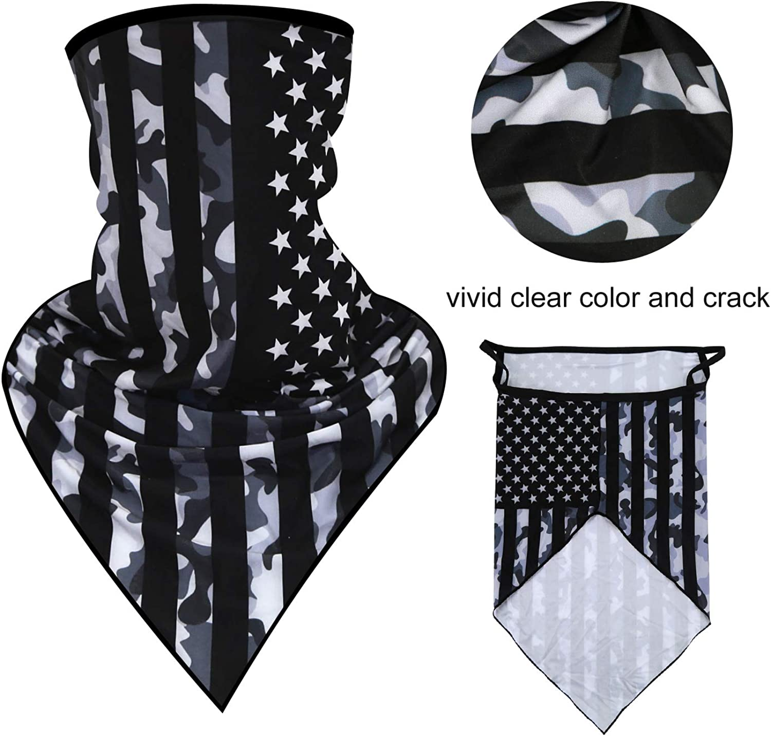 grneric Neck Gaiter 10 Ways Wear Bandana Breathable Washable for Sport/&Outdoor