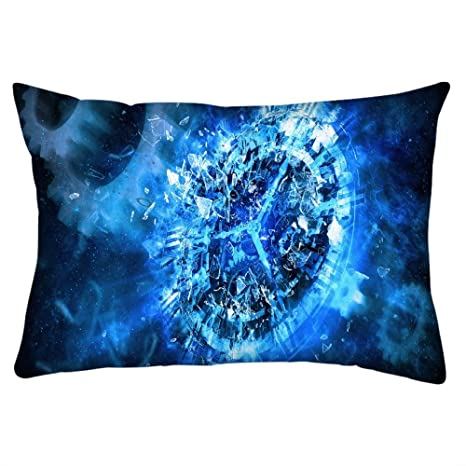 Snoogg Reloj de color azul abstracto Rectángulo Toss Throw Pillow Cojín Funda Decoarative funda de almohada