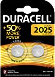 Duracell Specialty 2025 Lithium Coin Battery 3V, pack of 2 (DL2025/CR2025) designed for use in keyfobs, scales, wearables and medical devices