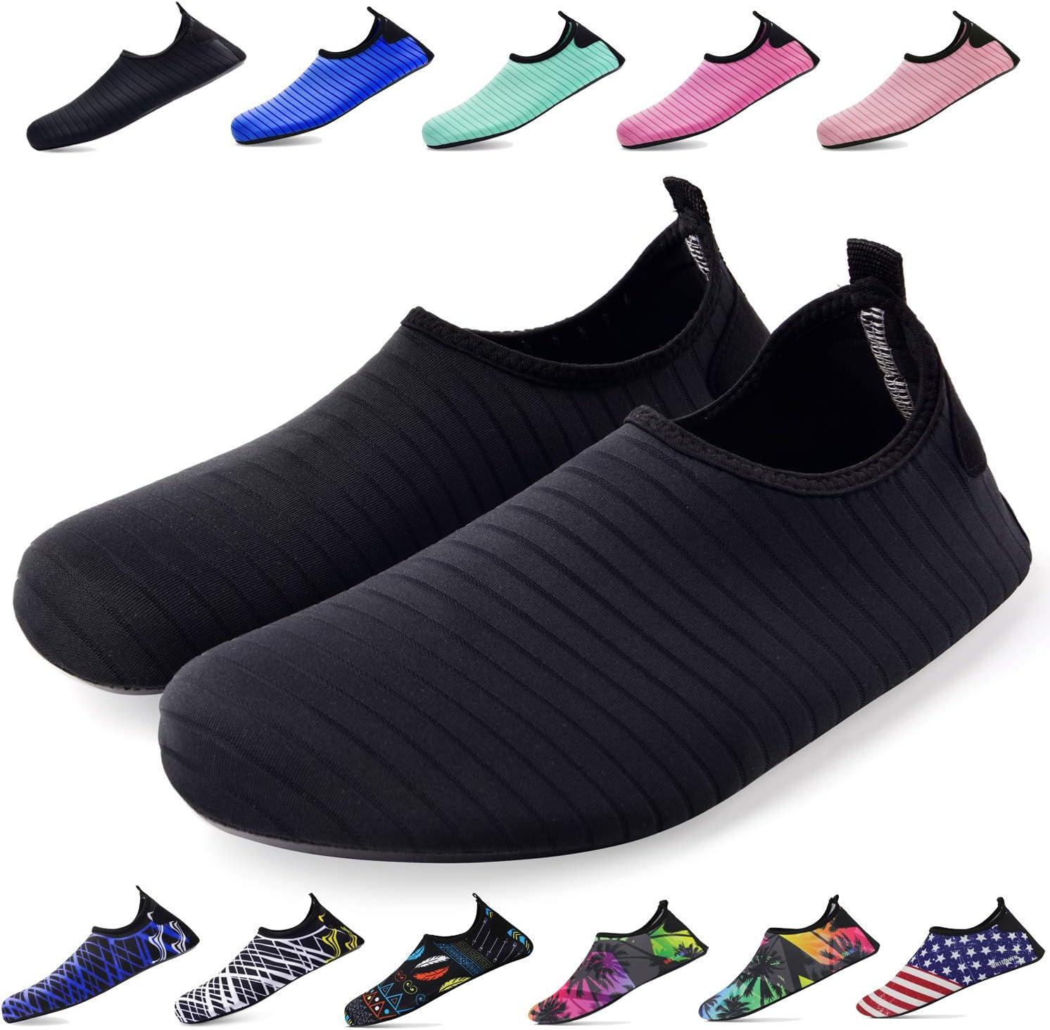 Bridawn Zapatos de Agua para Mujeres y Hombres, Calcetines de ...
