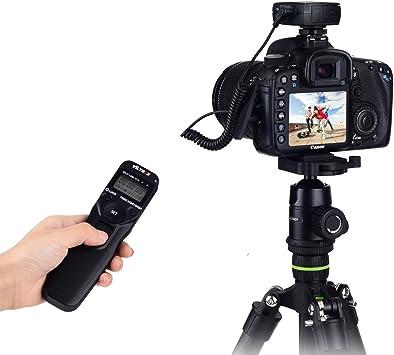 80D M6 70D 60Da M5 Temporizador Remoto disparador control para EOS Canon 77D 60D